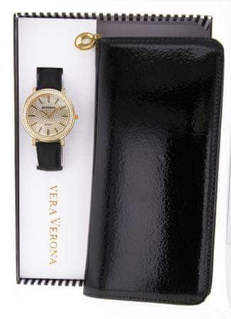 Vera Verona dámská sada hodinek s peněženkou MWF16-071B