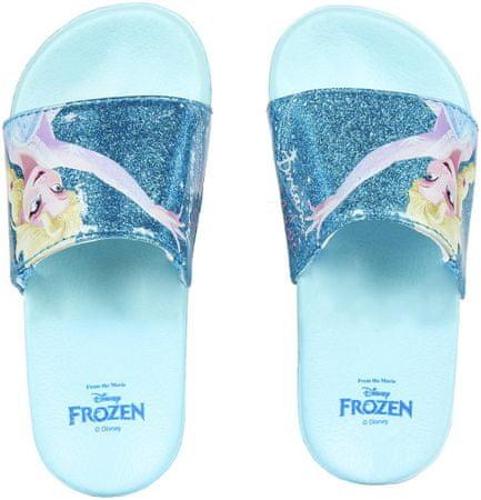 Disney dívčí pantofle Frozen 28.5 tyrkysová