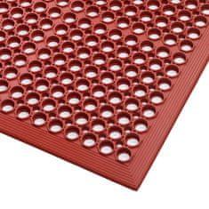 Červená gumová kuchyňská protiskluzová rohož Red, Sanitop - 91 cm a 1,27 cm