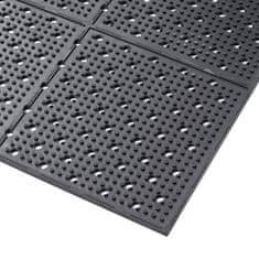 Černá gumová oboustranná protiskluzová rohož Multi Mat II - 0,95 cm