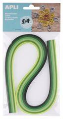 Apli Quilling  papírové proužky zelené tóny, 120 proužků