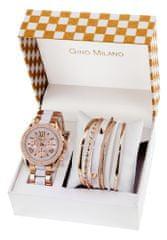 Gino  Milano dámská sada hodinek s náramky MWF14-004C