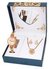 Gino  Milano damski zestaw zegarek z naszyjnikiem i kolczykami MWF16-024C