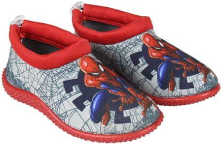 Disney chlapecké boty do vody Spiderman 23 šedá/červená