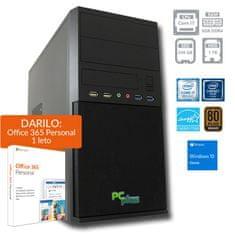 PCplus namizni računalnik e-office i7-8700/8GB/SSD240GB+1TB/W10H + DARILO: 1 leto Office 365 Per. (138678)