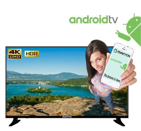 Manta 4K-UHD LED televizor 55LUA68L, Android, Smart, HDR, WiFi