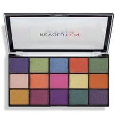Makeup Revolution 15 Szemhéjfesték paletta Re-Loaded Passion for Colour Palette 16,5 g