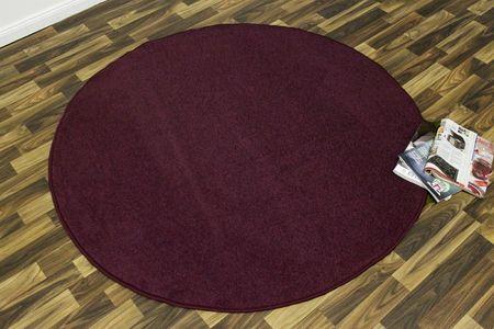 Hanse Home Kusový koberec Nasty 102368 Brombeer Violett kruh 133x133 kruh