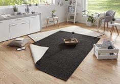 Bougari Kusový koberec Twin-Wendeteppiche 103096 schwarz creme
