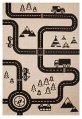 Zala Living Kusový koberec Vini 103024 Road Map Charly 120x170 cm