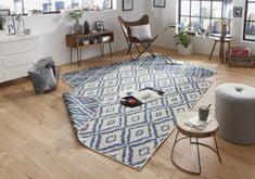 Bougari Kusový koberec Twin-Wendeteppiche 103137 blau creme