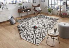 Bougari Kusový koberec Twin-Wendeteppiche 103134 schwarz creme