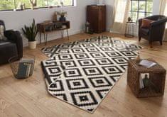 Bougari Kusový koberec Twin-Wendeteppiche 103129 schwarz creme