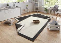 Bougari Kusový koberec Twin-Wendeteppiche 103105 creme schwarz