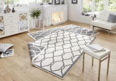 Bougari Kusový koberec Twin-Wendeteppiche 103121 grau creme