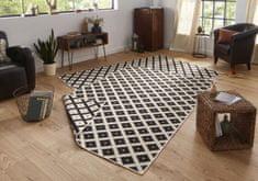 Bougari Kusový koberec Twin-Wendeteppiche 103124 schwarz creme