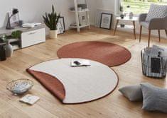 Bougari Kusový koberec Twin-Wendeteppiche 103098 terra creme kruh
