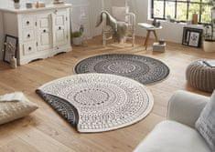 Bougari Kusový koberec Twin-Wendeteppiche 103101 creme schwarz