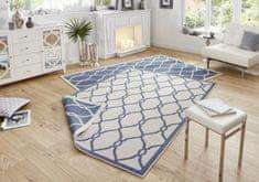 Bougari Kusový koberec Twin-Wendeteppiche 103123 blau creme