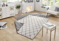 Bougari Kusový koberec Twin-Wendeteppiche 103118 grau creme