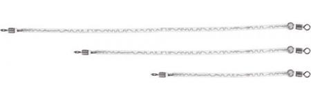 Unicat Bungee Rig Biele Pružné Lanko 150 kg 30-60 cm
