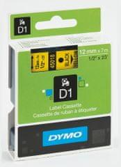Páska DYMO D1 12mm / 7m čierna na žltej