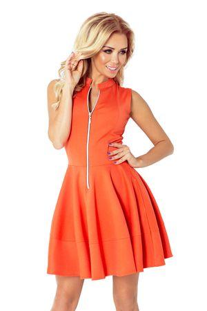Numoco Női ruha 123-5, piros-narancssárga, XL