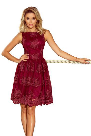 Numoco Dámske šaty 173-2 + Nadkolienky Sophia 2pack visone, bordó, XL