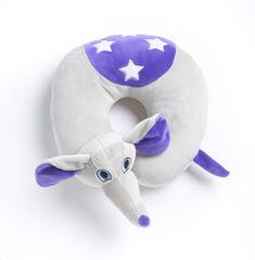 TravelBlue Dětský cestovní krční polštářek a hračka – Slůně Flappy TBU283