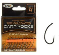 Ngt Háčiky Teflon Hooks Curved Shank 10 ks