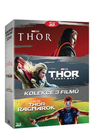Kolekce Thor 1-3: Thor + Thor: Temný svět + Thor: Ragnarok 3D+2D (6 disků) - Blu-ray