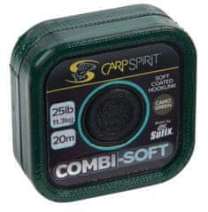 Carp Spirit Náväzcová Šnúra Combi Soft Camo Green 20 m