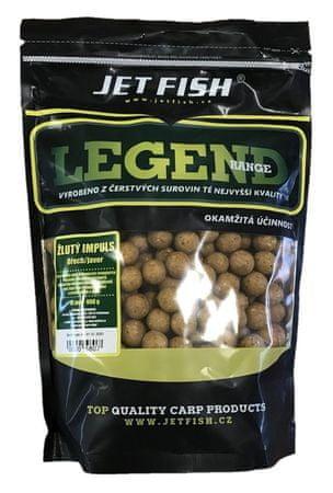 Jet Fish Boilie Legend Range Žltý Impuls Orech Javor 900 g, 16 mm
