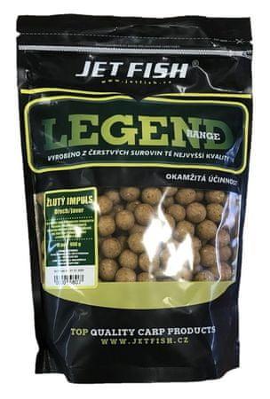 Jet Fish Boilie Legend Range Žltý Impuls Orech Javor 3 kg, 24 mm