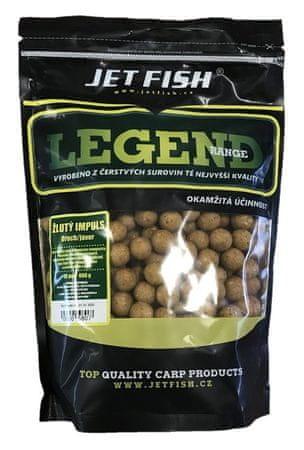 Jet Fish Boilie Legend Range Žltý Impuls Orech Javor 250 g, 24 mm