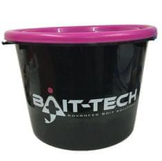 Bait-Tech Vedro S Vekom Groundbait Bucket And Lid Čierno Ružové 18 l