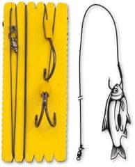 Black Cat Sumcový Náväzec Bouy And Boat Ghost Double Hook Rig 140 cm