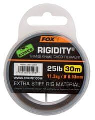 FOX Náväzcový Vlasec Edges Rigidity Chod Filament 30 m Trans Khaki