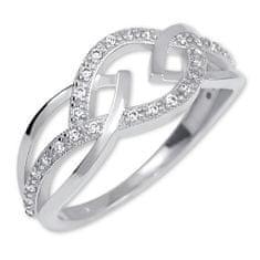 Brilio Ženski prstan iz belega zlata s kristali 229 001 00805 07 Belo zlato 585/1000