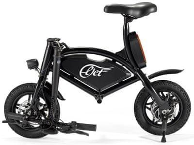 Elektrické skládací kolo Kolonožka Ecolo Eljet E4 Black, velká kapacita baterie, vysoká rychlost, dlouhý dojezd