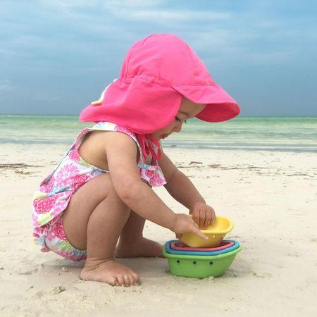 iPlay otroška kapa z robom in UV zaščito, 68 - 74, modra