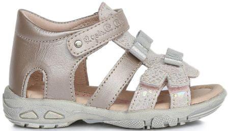 D-D-step dievčenské sandále s mašličkami 19 zlatá