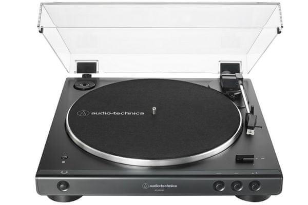 stylowy gramofon audio-technica at-lp60xbt 2 prędkości obrotów 2 prędkości obrotów Bluetooth wersja 5.0 zasięg 10 m