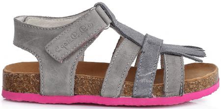 D-D-step dievčenské sandále 29 sivá