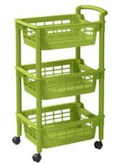 Rotho Vozík s košíky zelený