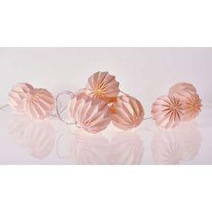 Emos LED dekoracija – girlanda, 10 x roza papirnata kroglica, 2xAA, t.b