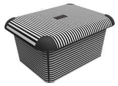 Rotho Dekorativný box A5 Proužky