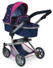 Bayer Chic kombiniran voziček MIKA, modro-roza z zvezdicami - Odprta embalaža