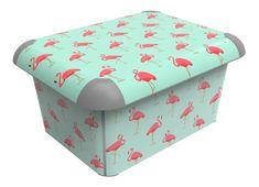 Rotho Dekorativný box A4 Plameňáci
