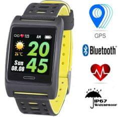 Trevi športna ura T-FIT 280, Bluetooth, črno/rumena